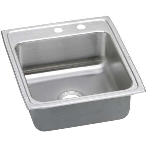 Elkay Lustertone Classic 19-In Stainless Steel 18 Gauge Single-Bowl Drop-In Sink
