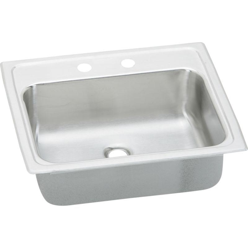 Elkay Celebrity 19-In 20 Gauge Stainless Steel Single-Bowl Drop-In Bathroom Sink