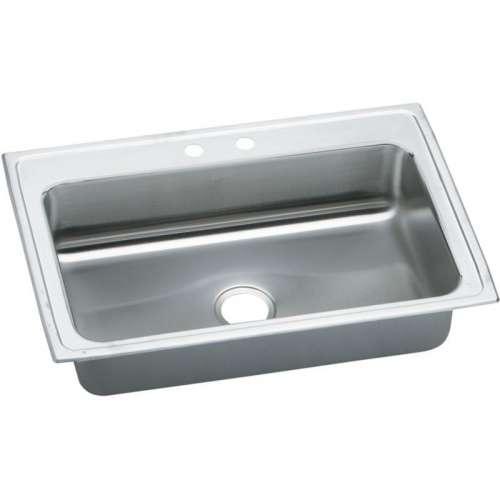 Elkay Celebrity 33-In 20 Gauge Stainless Steel Single-Bowl Drop-In Kitchen Sink