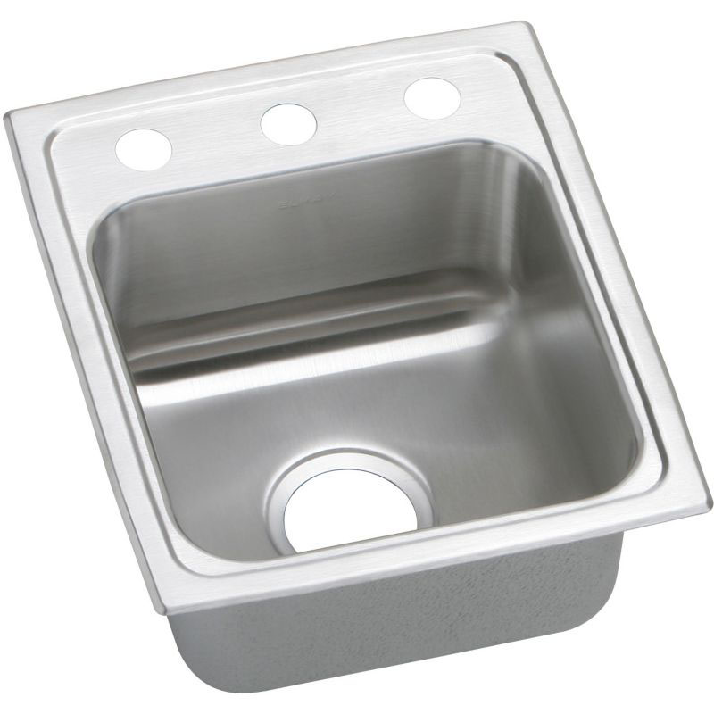 Elkay Celebrity 15-In 20 Gauge Stainless Steel Single-Bowl Drop-In Bar Sink