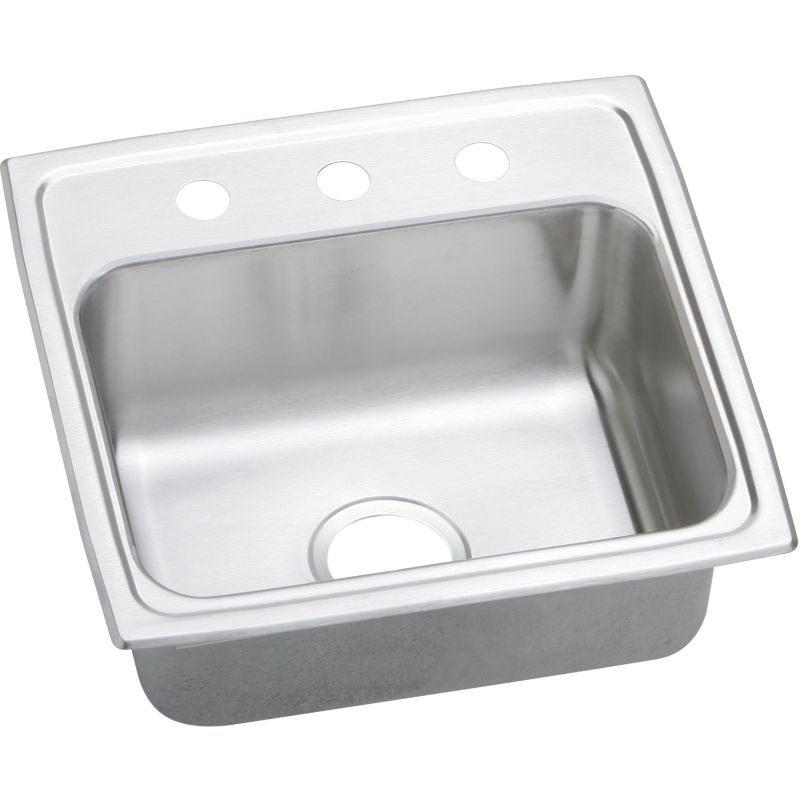 Elkay Celebrity 19-In Stainless Steel 18 Gauge Single-Bowl Drop-In Sink