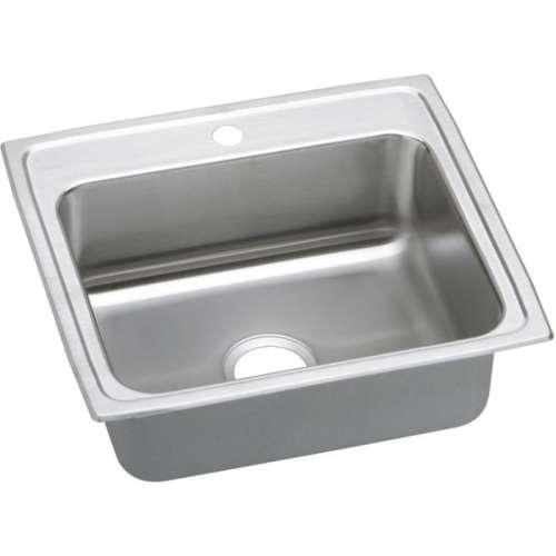 Elkay Celebrity 22-In 20 Gauge Stainless Steel Single-Bowl Drop-In Kitchen Sink