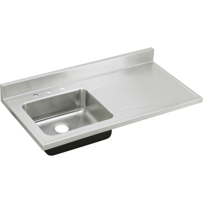 Elkay Lustertone Classic 48-In 18 Gauge Stainless Steel Single-Bowl Top-Mount Kitchen Sink