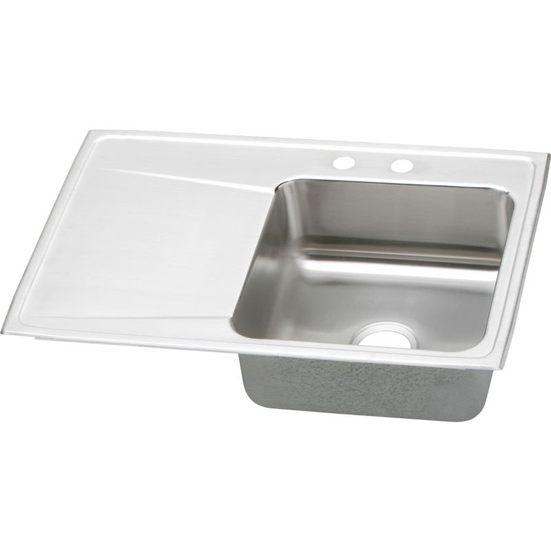 Elkay Lustertone Classic 33-In Stainless Steel 18 Gauge Single-Bowl Drop-In Sink