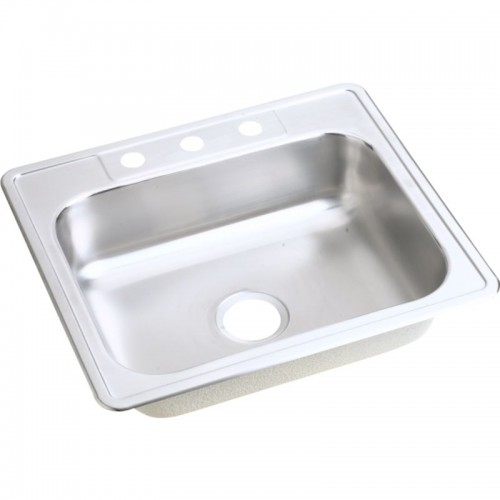 Dayton Classic 25-In Stainless Steel Single-Bowl Top-Mount Sink