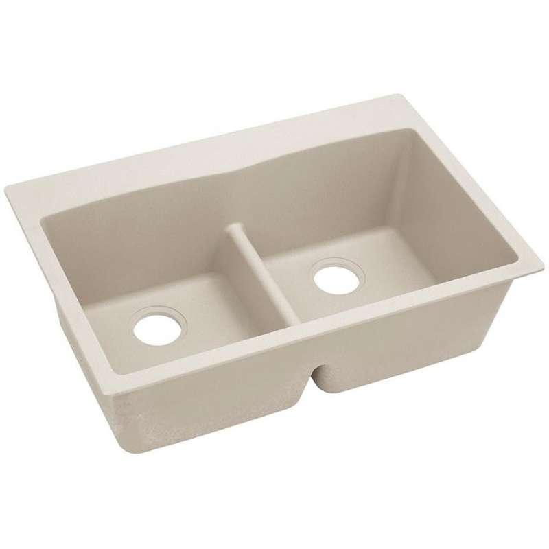 Elkay Quartz Classic 33-In Double-Bowl Drop-In Sink