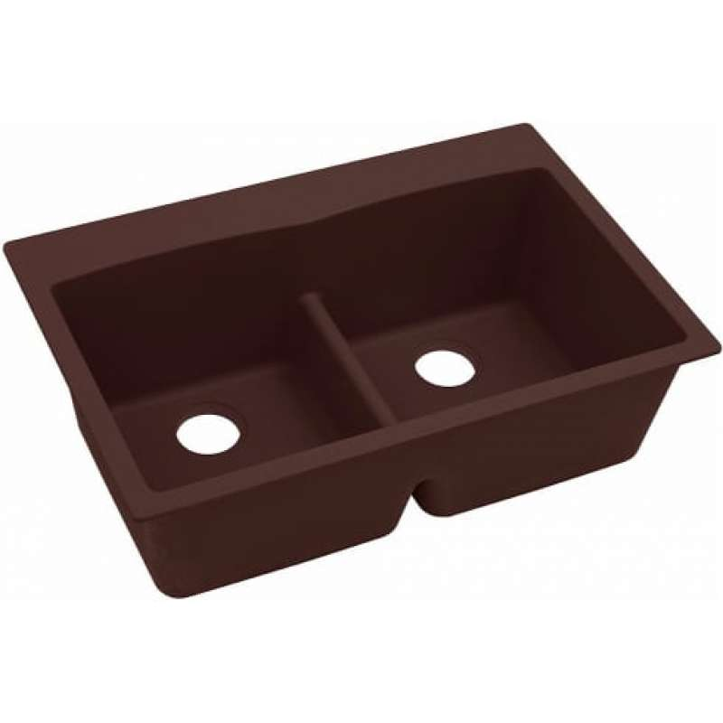 Elkay Quartz Classic 33-In Double-Bowl Drop-In Sink