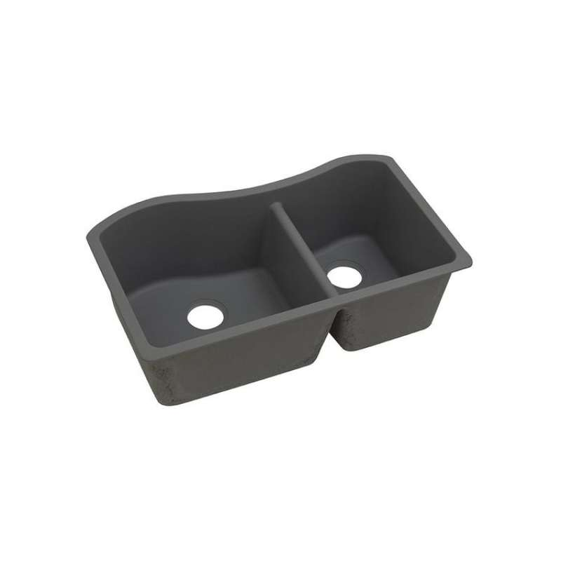 Elkay Quartz Classic 32-1/2-In Double-Bowl Undermount Sink