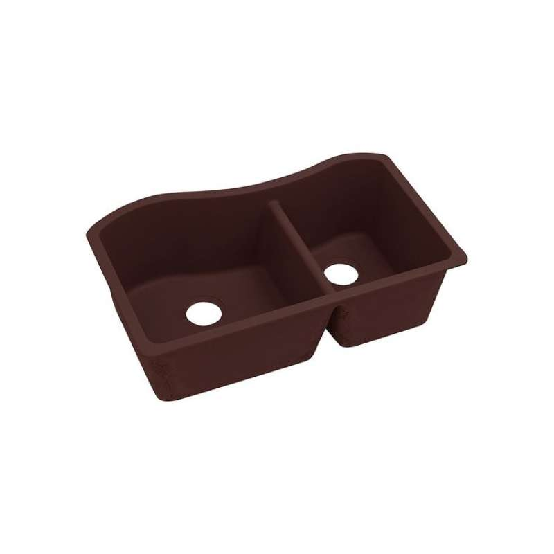 Elkay Quartz Classic 32-1/2-In Double-Bowl Undermount Sink