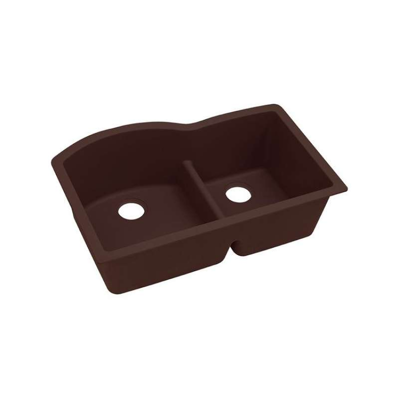 Elkay Quartz Classic 33-In Double-Bowl Undermount Sink