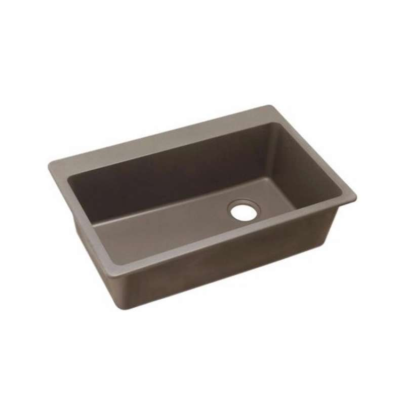 Elkay Quartz Classic 33-In Single-Bowl Drop-In Sink With Right-Hand Drain