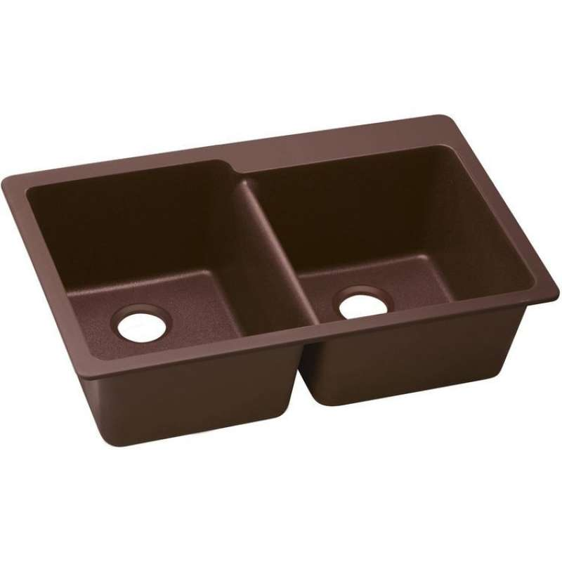 Elkay Quartz Classic 33-In Quartz Double-Bowl Drop-In Sink