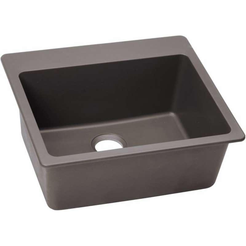 Elkay Quartz Classic 25-In Single-Bowl Drop-In Sink