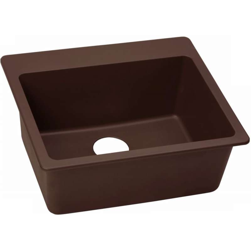 Elkay Quartz Classic 25-In Single-Bowl Drop-In Sink