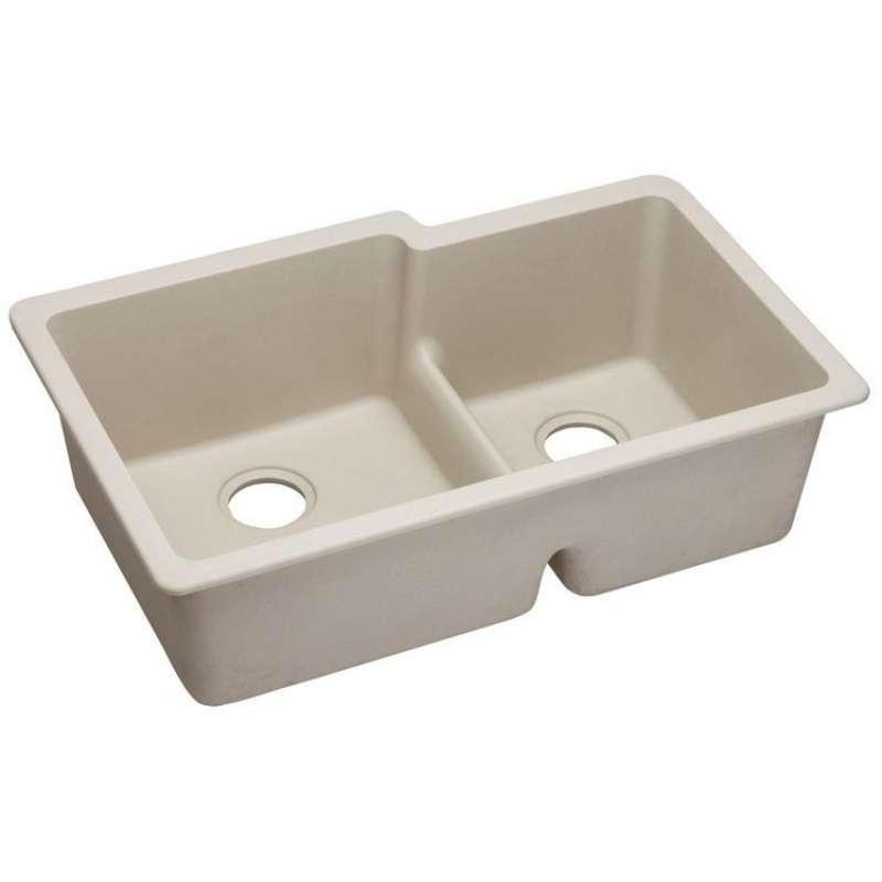 Elkay Quartz Classic 33-In Double-Bowl Undermount Sink