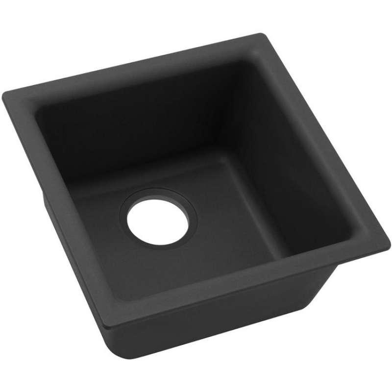Elkay Quartz Classic 15-3/4-In Quartz Single-Bowl Dual Mount Bar Sink