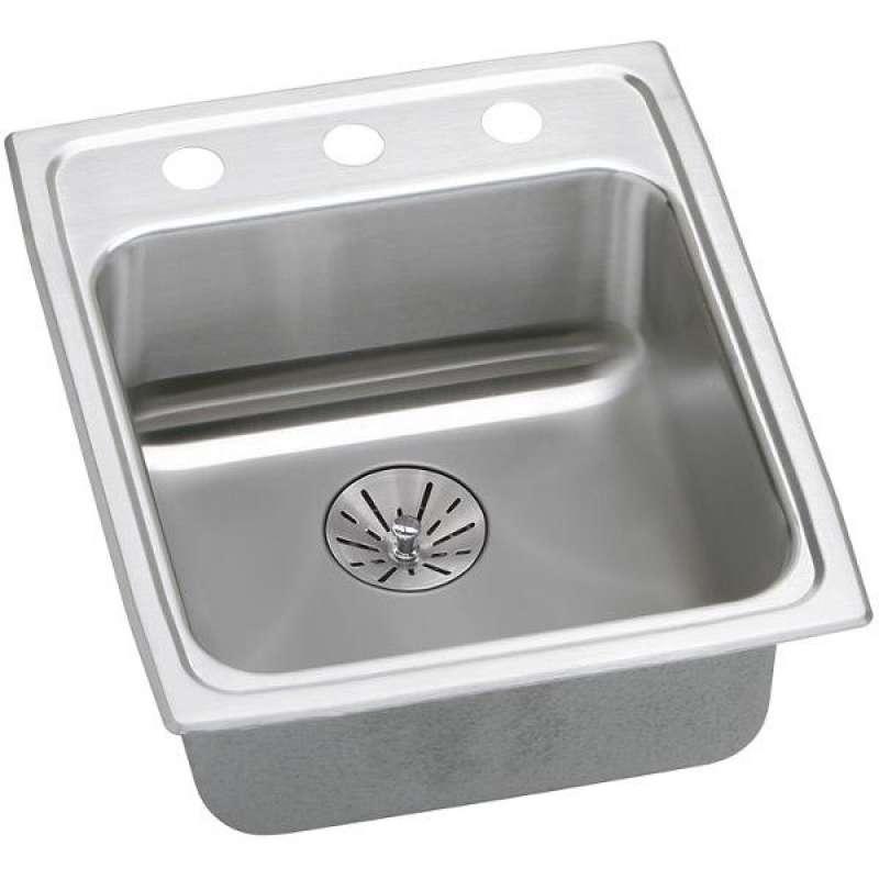 Elkay Lustertone Classic 15-In Stainless Steel Single-Bowl Drop-In Kitchen Sink