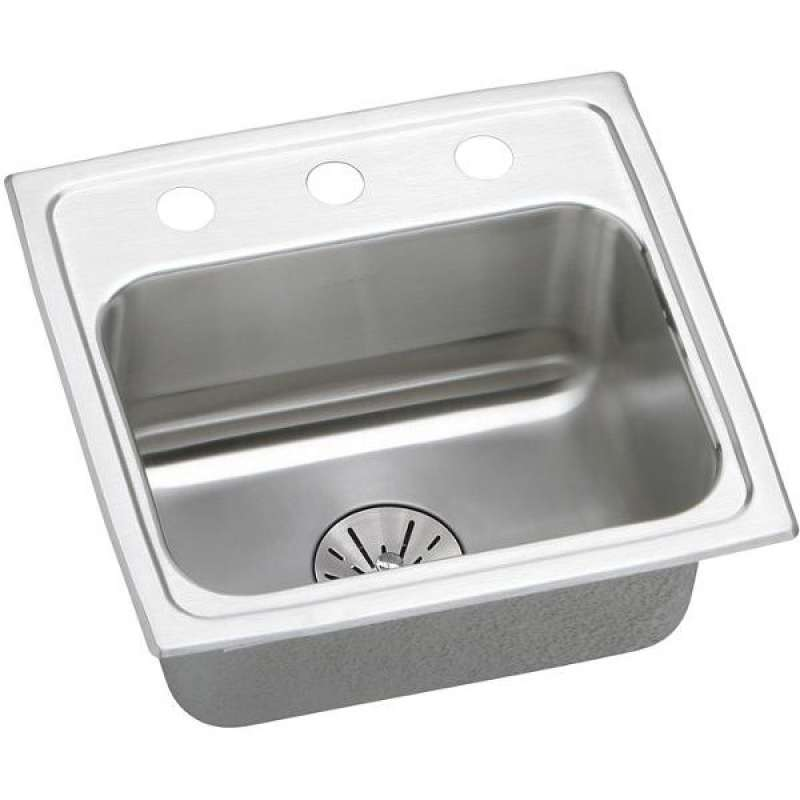 Elkay Lustertone Classic 17-In Stainless Steel Single-Bowl Drop-In Kitchen Sink