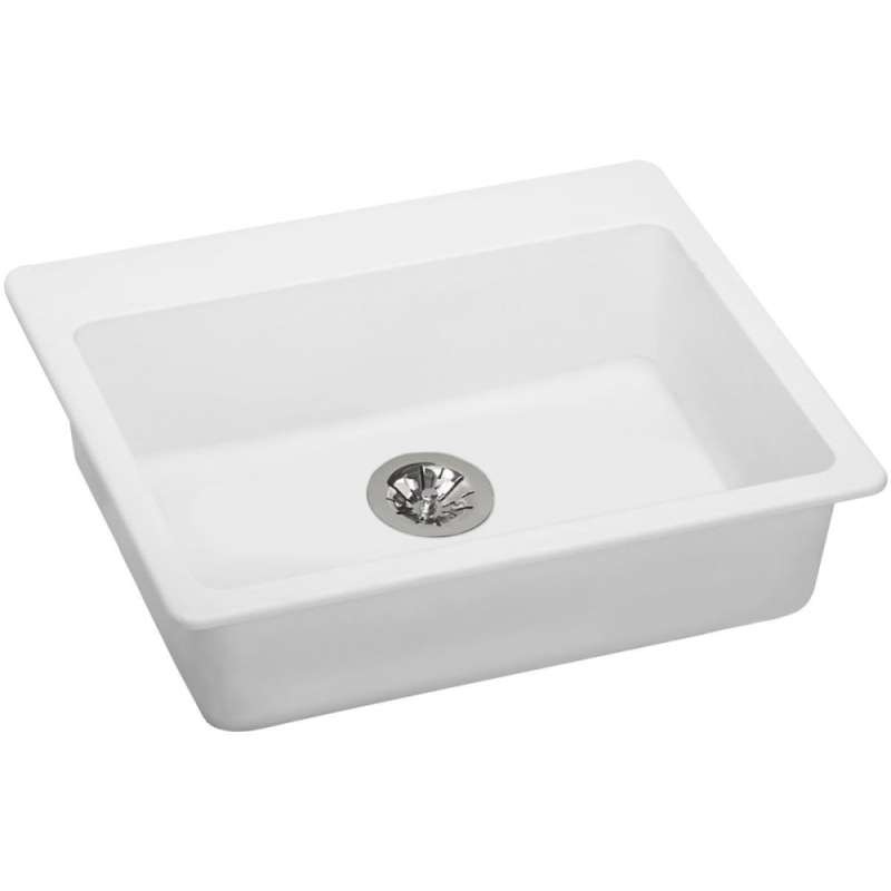 Elkay Quartz Classic 25-In Quartz Drop-In ADA Sink