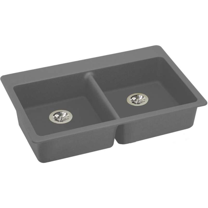 Elkay Quartz Classic 33-In Quartz Drop-In ADA Sink