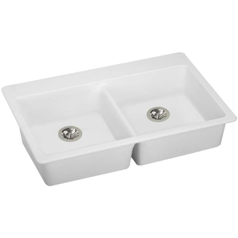 Elkay Quartz Classic 33-In Quartz Drop-In ADA Sink