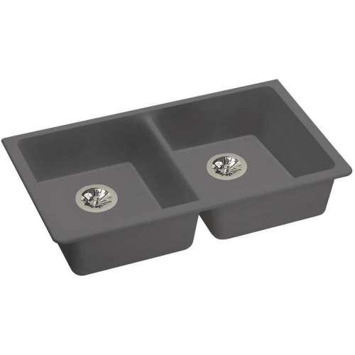 Elkay Quartz Classic 33-In Double-Bowl Undermount ADA Kitchen Sink