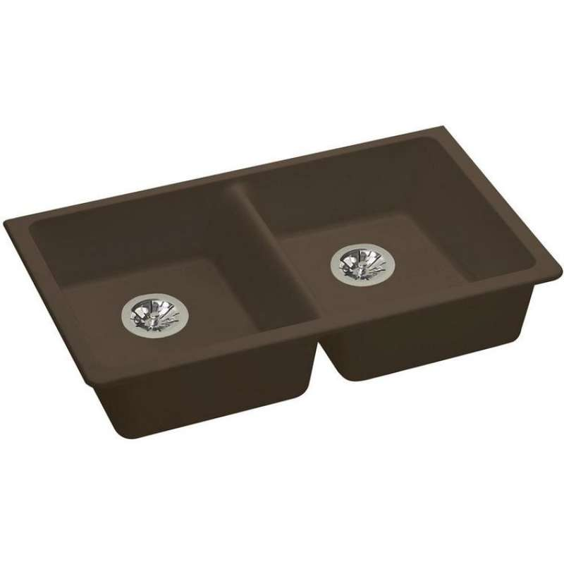Elkay Quartz Classic 33-In Double-Bowl Undermount ADA Kitchen Sink