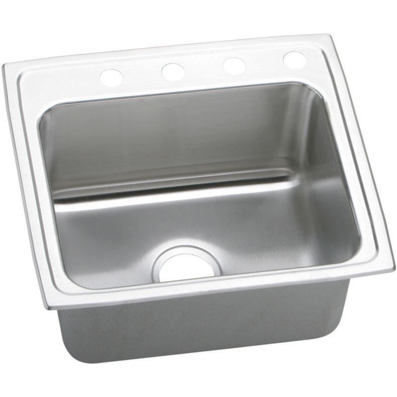 Elkay Lustertone Classic 22-In Stainless Steel 18 Gauge Single-Bowl Drop-In Sink