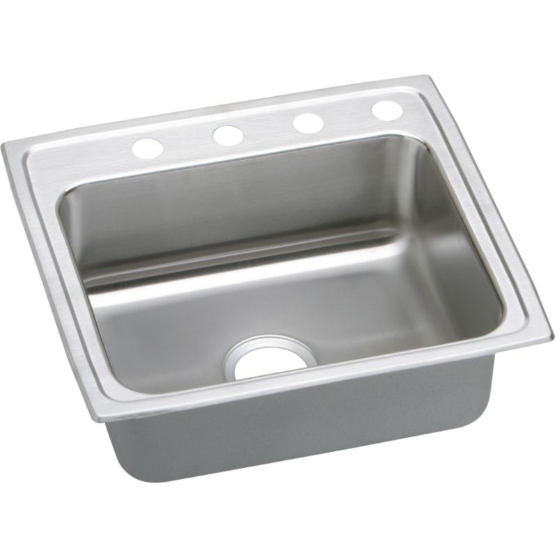 Elkay Lustertone Classic 22-In Stainless Steel 18 Gauge Single-Bowl Drop-In ADA Sink
