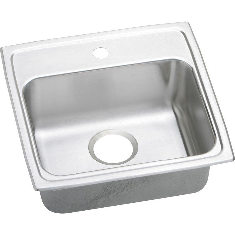 Elkay Lustertone Classic 19-In Copper 18 Gauge Single-Bowl Drop-In ADA Sink