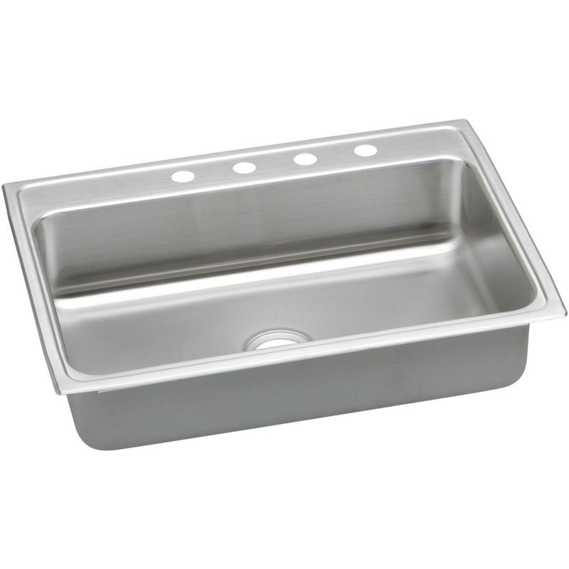 Elkay Lustertone Classic 31-In Stainless Steel 18 Gauge Single-Bowl Drop-In ADA Sink