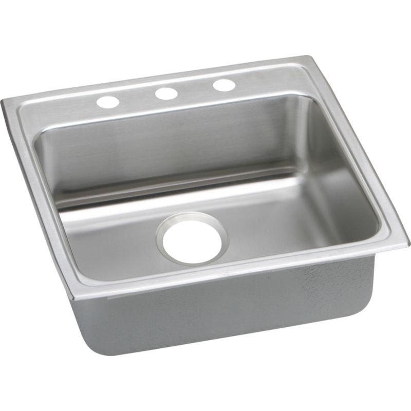Elkay Lustertone Classic 22-In Stainless Steel 18 Gauge Single-Bowl Drop-In ADA Sink