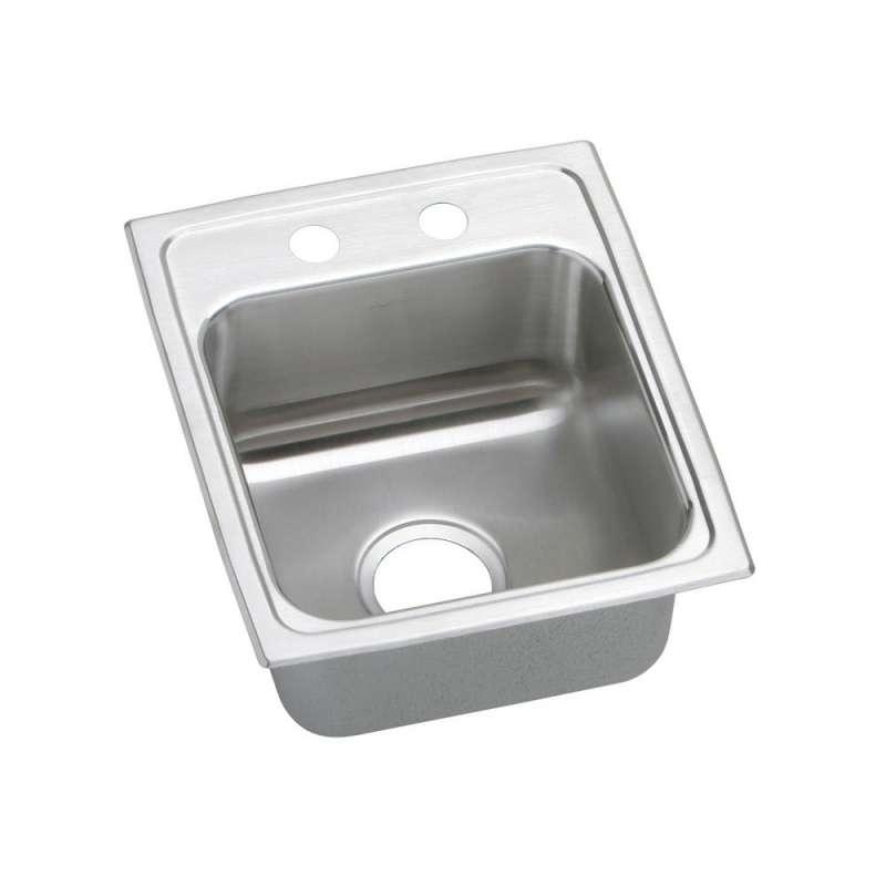 Elkay Lustertone Classic 15-In Stainless Steel 18 Gauge Single-Bowl Drop-In ADA Sink