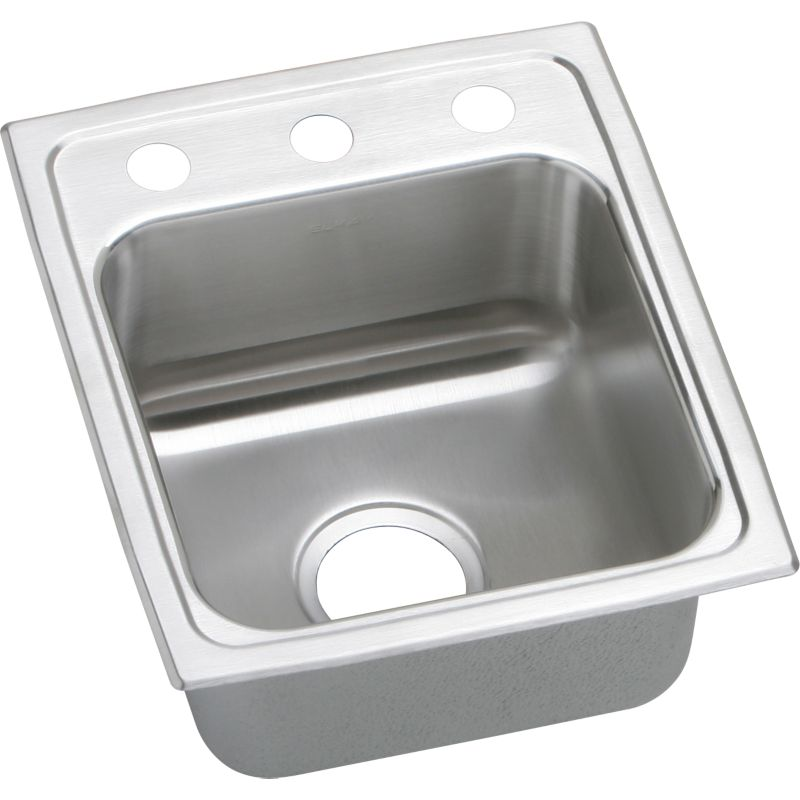 Elkay Lustertone Classic 15-In Stainless Steel 18 Gauge Single-Bowl Drop-In ADA Sink