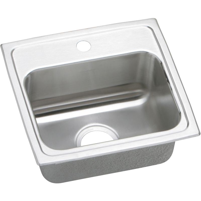 Elkay Lustertone Classic 17-In 18 Gauge Single-Bowl Drop-In ADA Sink