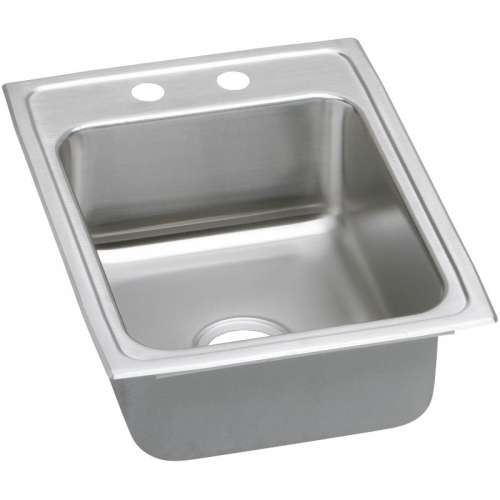 Elkay Lustertone Classic 17-In Stainless Steel 18 Gauge Single-Bowl Drop-In ADA Sink