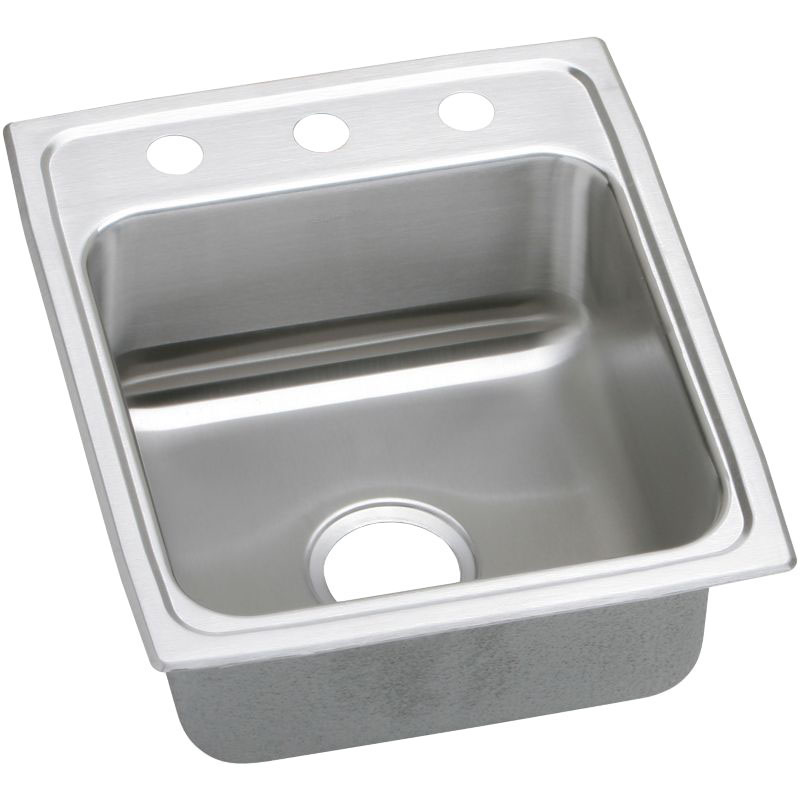 Elkay Lustertone Classic 17-In 18 Gauge Single-Bowl Drop-In ADA Sink