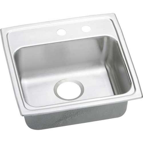 Elkay Lustertone Classic 19-1/2-In Stainless Steel 18 Gauge Single-Bowl Drop-In ADA Sink
