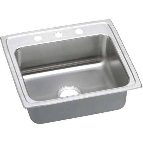 Elkay Lustertone Classic 25-In Stainless Steel 18 Gauge Single-Bowl Drop-In ADA Sink