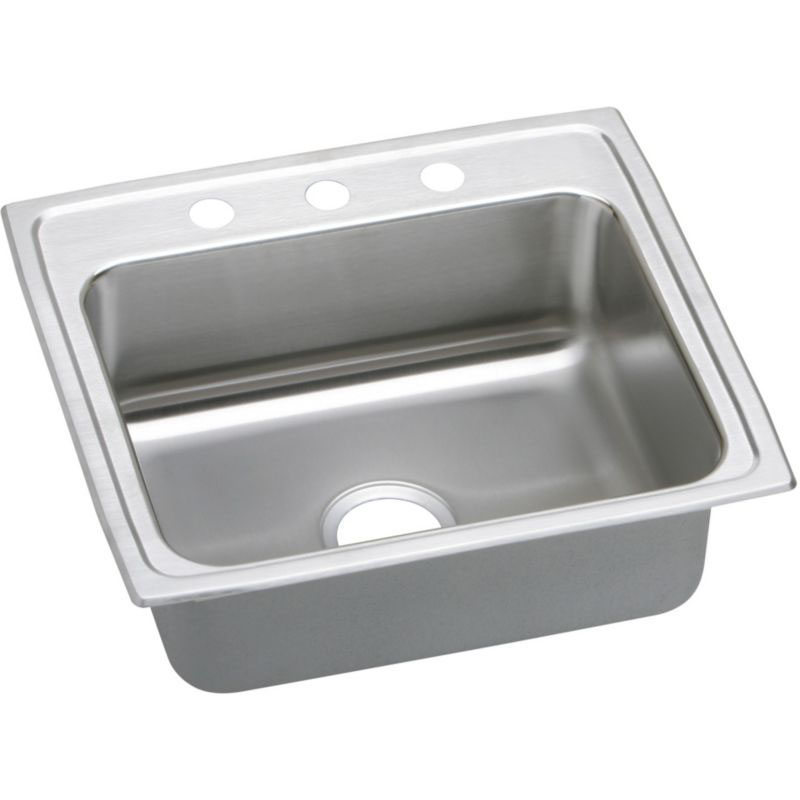 Elkay Lustertone Classic 25-In Stainless Steel 18 Gauge Single-Bowl Drop-In ADA Sink
