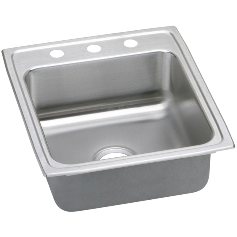 Elkay Lustertone Classic 19-1/2-In Stainless Steel 18 Gauge Single-Bowl Drop-In Sink