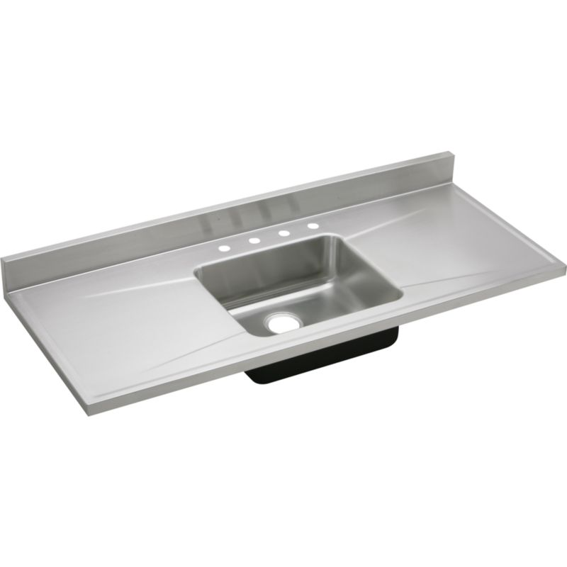 Elkay Lustertone Classic 60-In 18 Gauge Stainless Steel Single-Bowl Sink