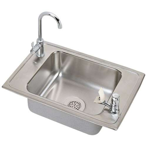 Elkay Celebrity Stainless Steel Single-Bowl Top-Mount Sink With Faucet Kit