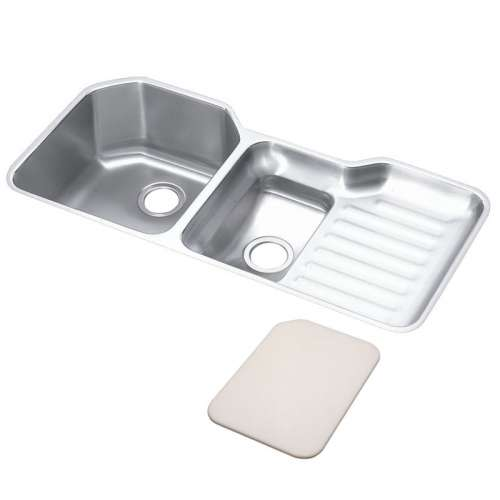 Elkay Harmony Lustertone Stainless Steel Double-Bowl Undermount Sink