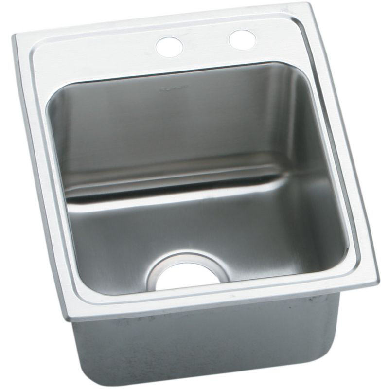 Elkay Lustertone Classic 17-In Stainless Steel 18 Gauge Single-Bowl Drop-In Sink