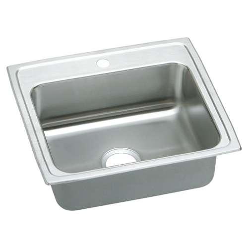 Elkay Lustertone Classic 25-In Stainless Steel 18 Gauge Single-Bowl Drop-In Sink