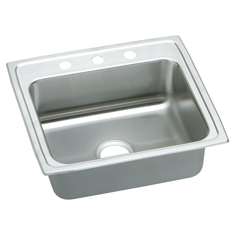 Elkay Lustertone Classic 25-In Stainless Steel 18 Gauge Single-Bowl Drop-In Sink