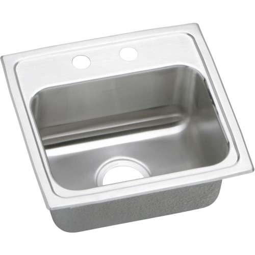 Elkay Lustertone Classic 17-In Stainless Steel 18 Gauge Single-Bowl Drop-In ADA Sink