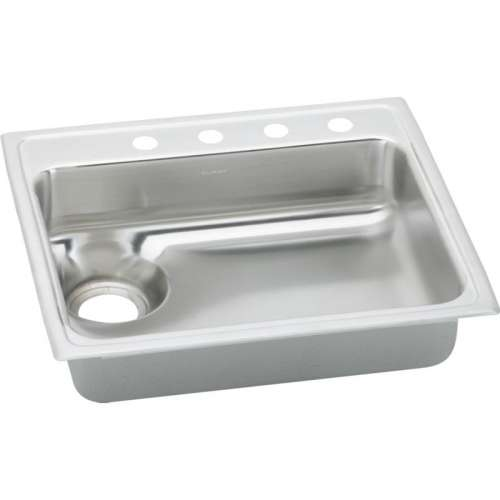 Elkay Lustertone Classic 25-In 18 Gauge Single-Bowl Drop-In ADA Sink