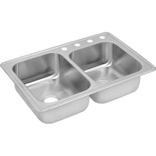 Dayton 33-In Stainless Steel Double-Bowl Top-Mount Sink